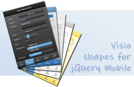 Visio Shapes For jQuery Mobile