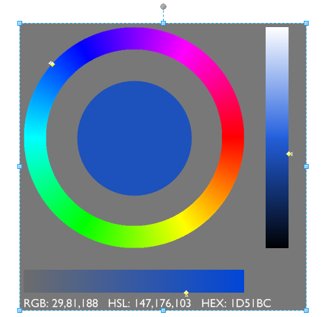 Visio color wheel