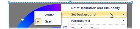 Color wheel context menu