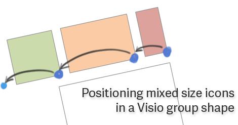 PositioningMixedSizeIconsInVisio