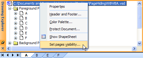 John Goldsmith's visLog: Hiding Pages (with VBA)