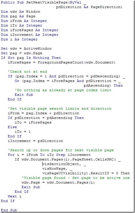SetVisibilityCode